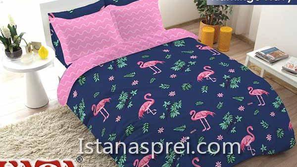Sprei Fata Flamingo Navy